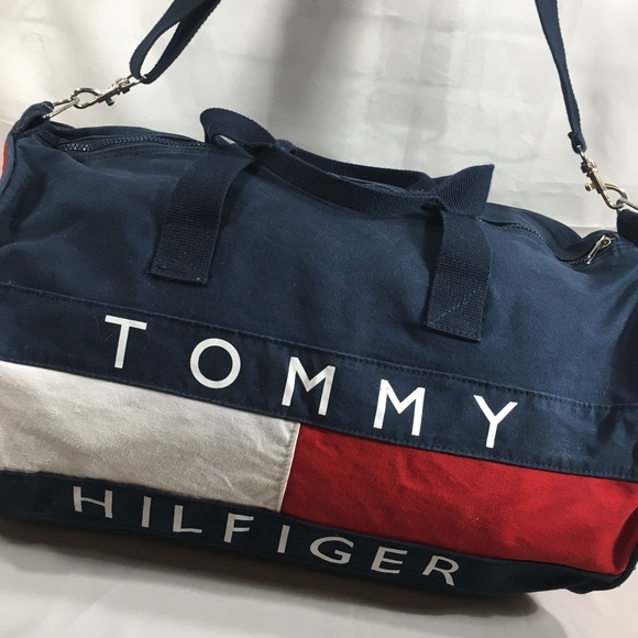 7ba0db292b5a Tommy Hilfiger Canvas Duffle Bag Gym Bag